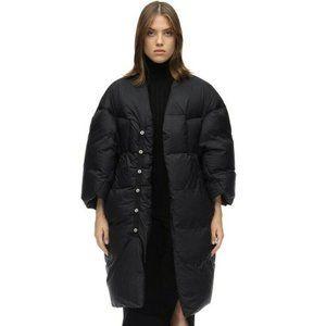 $2680 Rare RICK OWENS Women's Black Down Coat